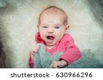 newborn baby lies in a crib... | Shutterstock . vector #630966296