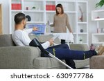 injured boyfriend and... | Shutterstock . vector #630977786