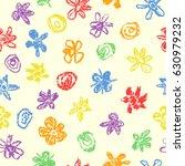wax crayon like kid s drawn... | Shutterstock .eps vector #630979232