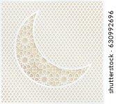 ornamental arabic half moon... | Shutterstock .eps vector #630992696