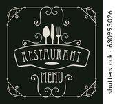 template vector menu for...   Shutterstock .eps vector #630993026