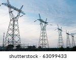 pylon and transmission power... | Shutterstock . vector #63099433