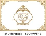 gold border design  frame photo ... | Shutterstock .eps vector #630999548