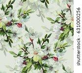 seamless watercolor... | Shutterstock . vector #631000256
