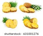 pineapple fruit isolated on... | Shutterstock . vector #631001276