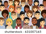 a diverse group of people.... | Shutterstock .eps vector #631007165