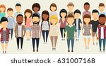 a group of people in flat style.... | Shutterstock .eps vector #631007168