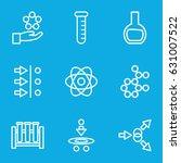 scientific icons set. set of 9... | Shutterstock .eps vector #631007522