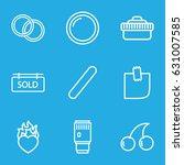 sticker icons set. set of 9...   Shutterstock .eps vector #631007585
