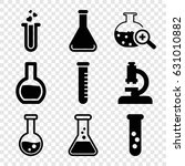 lab icons set. set of 9 lab... | Shutterstock .eps vector #631010882