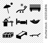 rest icons set. set of 9 rest... | Shutterstock .eps vector #631016846