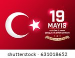 may 19th turkish commemoration... | Shutterstock .eps vector #631018652
