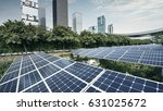 solar panels in the city | Shutterstock . vector #631025672