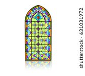 gothic windows. vintage frames. ... | Shutterstock .eps vector #631031972