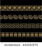 greek ornament. patterns in... | Shutterstock .eps vector #631031975