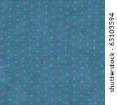 Pink Polka Dots On A Blue...
