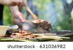 outdoor barbecue | Shutterstock . vector #631036982