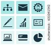 job icons set. collection of... | Shutterstock .eps vector #631041542