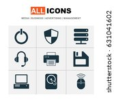computer icons set. collection... | Shutterstock .eps vector #631041602
