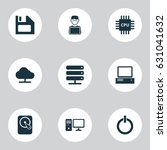 computer icons set. collection... | Shutterstock .eps vector #631041632
