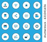 social colorful icons set.... | Shutterstock .eps vector #631041656