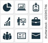 job icons set. collection of... | Shutterstock .eps vector #631041746