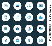 trade colorful icons set.... | Shutterstock .eps vector #631041812