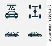 automobile icons set.... | Shutterstock .eps vector #631041842