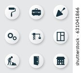 industry icons set. collection... | Shutterstock .eps vector #631041866