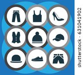 dress icons set. collection of... | Shutterstock .eps vector #631041902