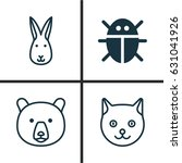 zoology icons set. collection... | Shutterstock .eps vector #631041926