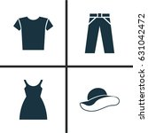 dress icons set. collection of... | Shutterstock .eps vector #631042472