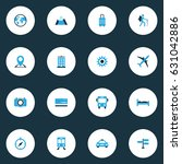 journey colorful icons set.... | Shutterstock .eps vector #631042886