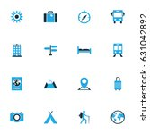 journey colorful icons set.... | Shutterstock .eps vector #631042892