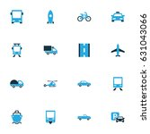 shipment colorful icons set.... | Shutterstock .eps vector #631043066