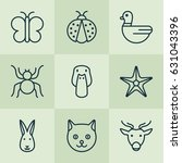 nature icons set. collection of ... | Shutterstock .eps vector #631043396