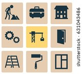 architecture icons set.... | Shutterstock .eps vector #631043486