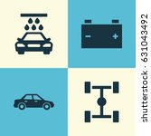 auto icons set. collection of... | Shutterstock .eps vector #631043492