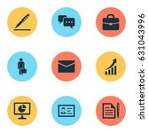 trade icons set. collection of... | Shutterstock .eps vector #631043996