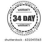 34 day black warranty vector | Shutterstock .eps vector #631045565