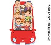 three generation family who... | Shutterstock .eps vector #631051802