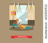 vector illustration of woman... | Shutterstock .eps vector #631052912