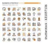 business strategy icons   thin... | Shutterstock .eps vector #631057136