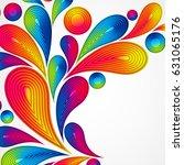 colorful striped drops splash...   Shutterstock . vector #631065176