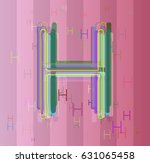 alphabet h design pattern | Shutterstock .eps vector #631065458