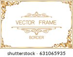 gold photo frame with thai... | Shutterstock .eps vector #631065935