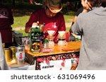 fresh coffee shop flea market... | Shutterstock . vector #631069496