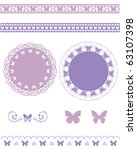 butterfly line and frame set | Shutterstock .eps vector #63107398