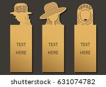 die and laser cut with woman...   Shutterstock .eps vector #631074782