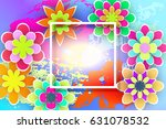 beautiful floral template with... | Shutterstock .eps vector #631078532